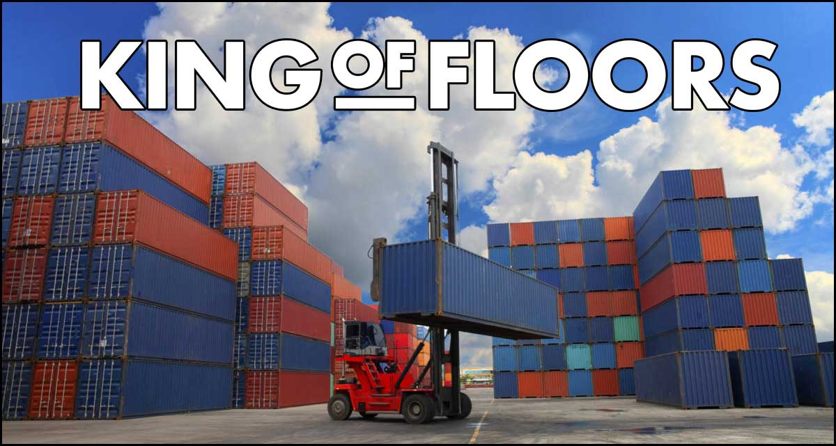 King of Floor is safely shipped by shipping containers