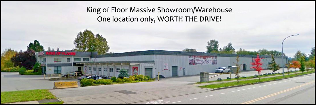 King of Floor's main showroom and warehouse is located in Surrey, BC