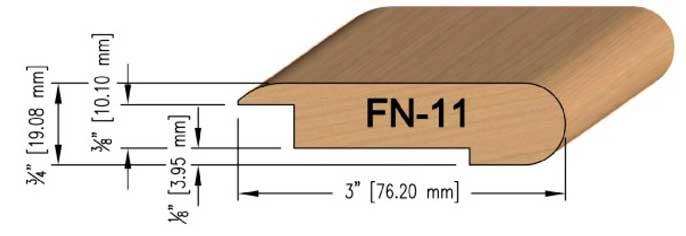 10 mm Maple Overlay Stair Nosing
