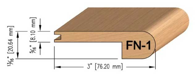 8 mm Oak Flush Stair Nosing