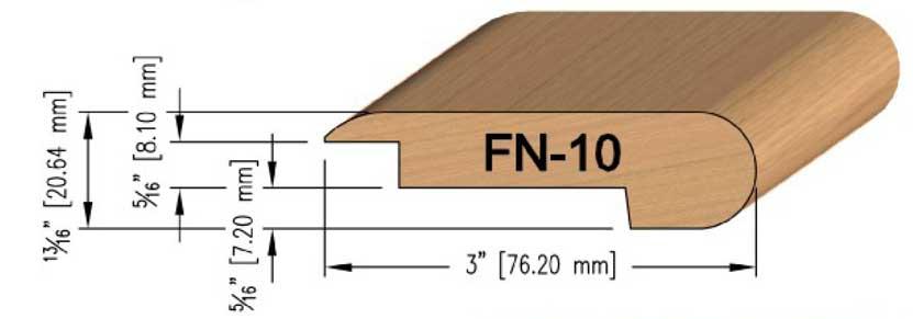 8 mm Oak Overlay Stair Nosing