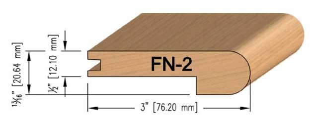 12 mm Oak Flush Stair Nosing