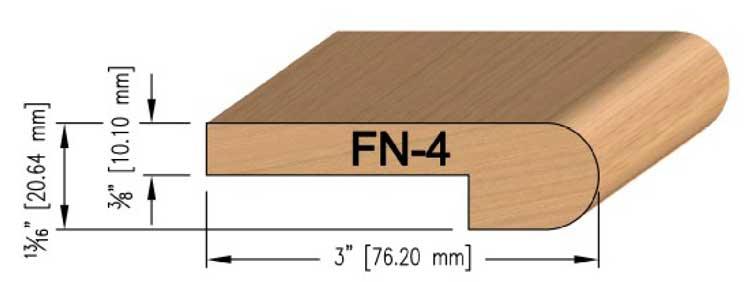 10 mm Oak Flush Stair Nosing