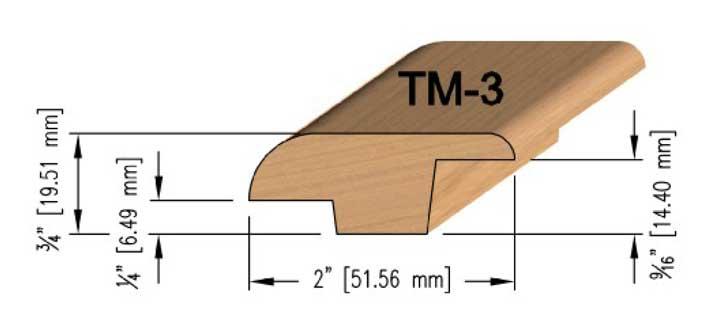Large Step Oak T-Mould