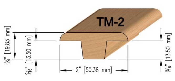 12mm Oak T-Mould