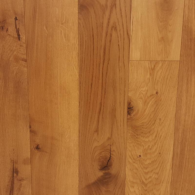 150mm Natural Oak Flat Engineered T&G