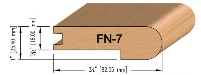 18mm Maple Flush Stair Nosing