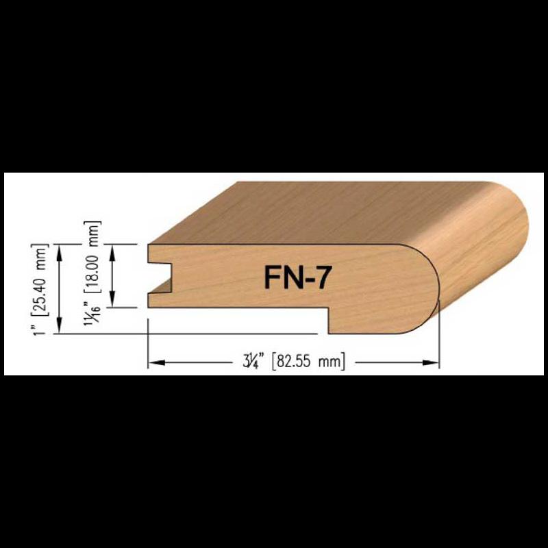 18mm Oak Flush Stair Nosing