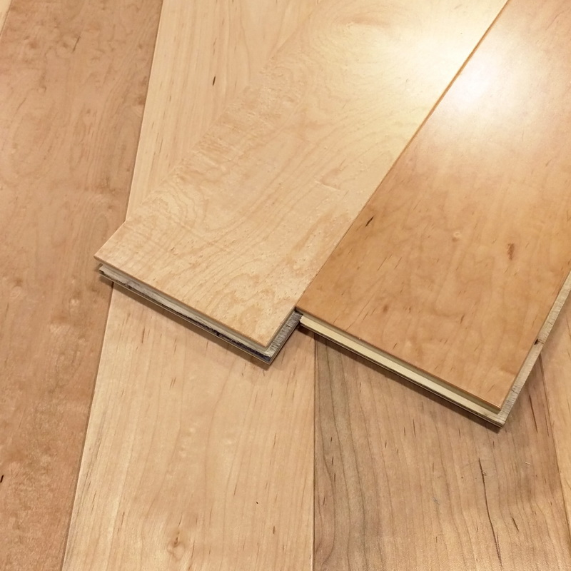 125mm Natural Maple Flat Engineered T&G