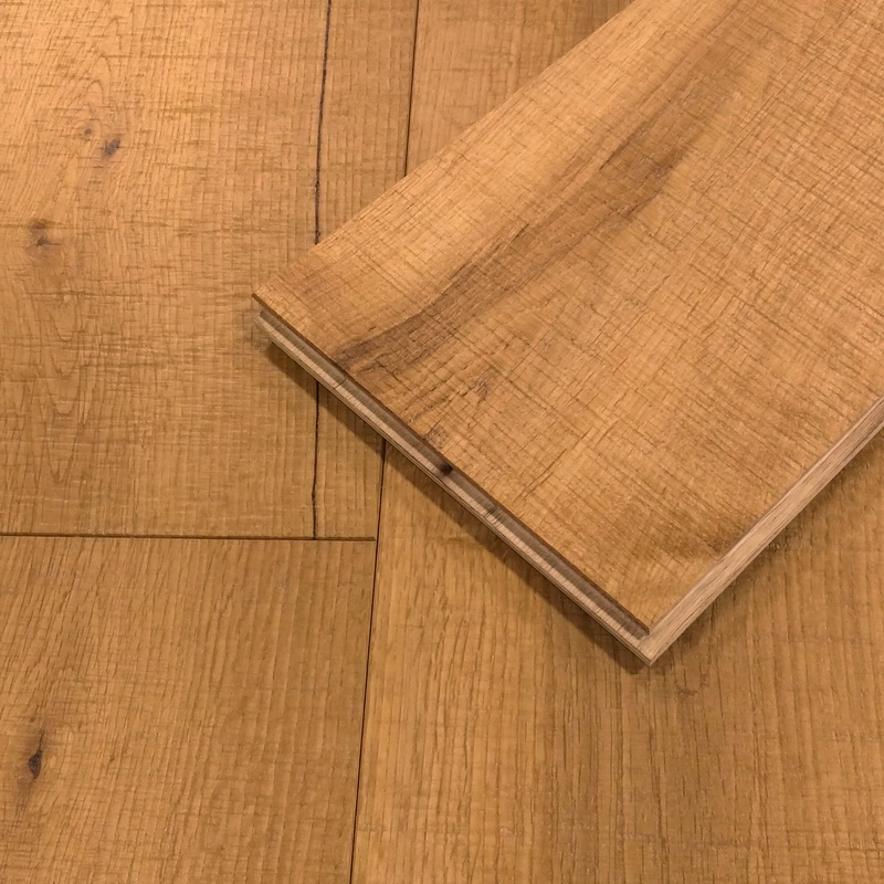 189mm Natural Oak Chattered Band Sawn Engineered T&G