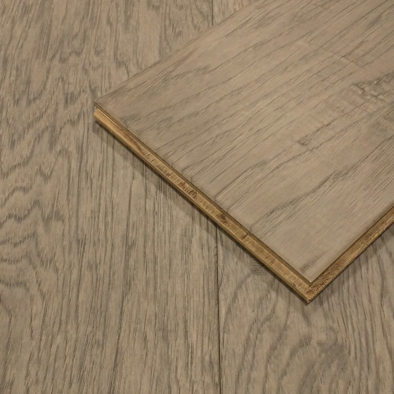 190mm Stone Hickory Distressed Engineered T&G