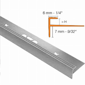 Vinpro 5mm Stair Nosing SQUARE Brushed Chrome