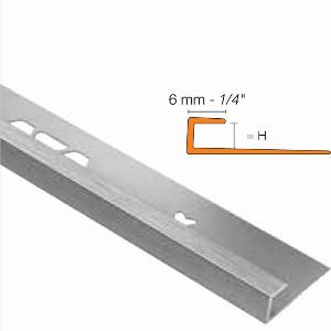 Vinpro 6mm J Channel Brushed Chrome