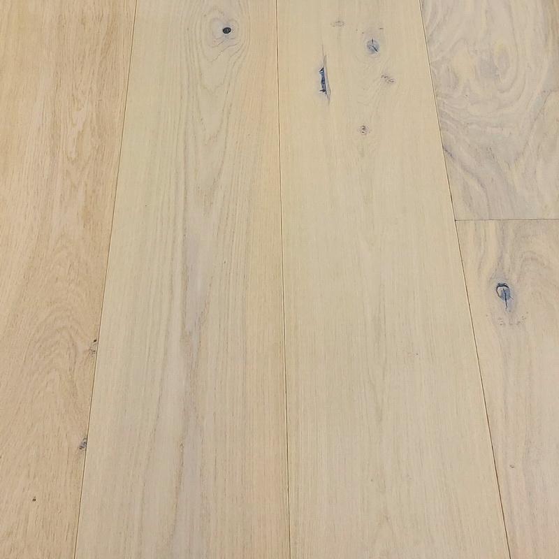 190mm Bleacher White Oak Brushed Engineered T&G