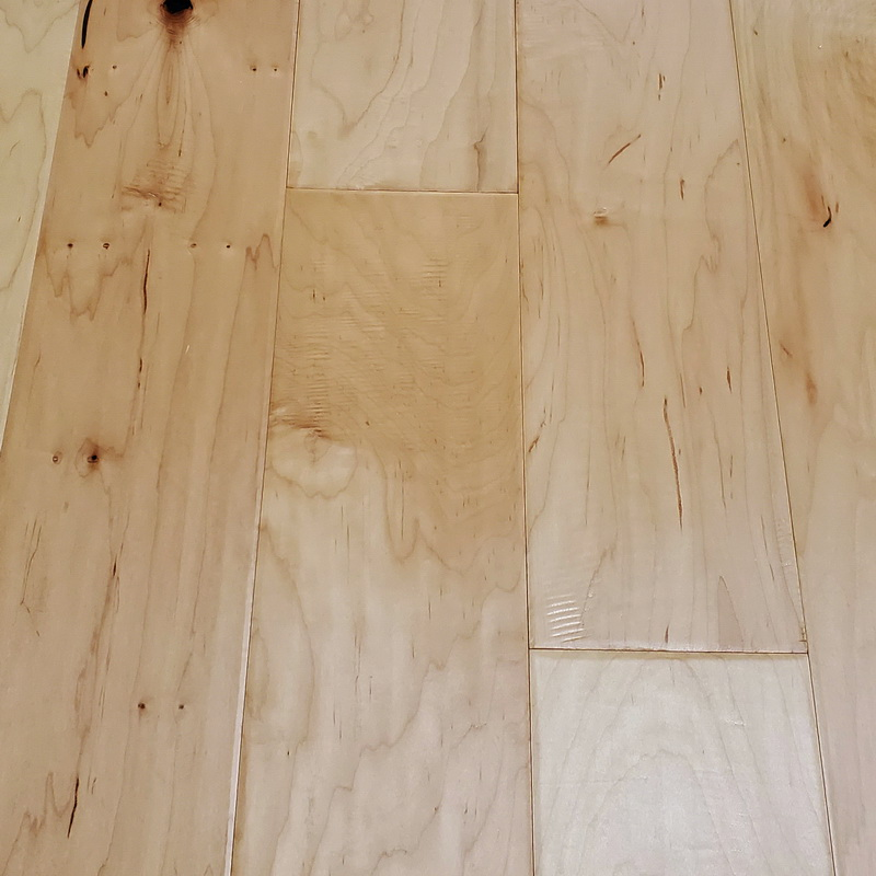 167mm Natural Maple Distressed Engineered T&G
