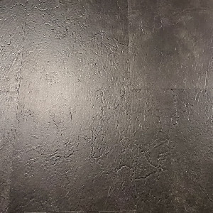 "Vinyl 4.2mm BTJ- Kings StoneLock- Click Tile 12"" x 24"" Galassia Nero"