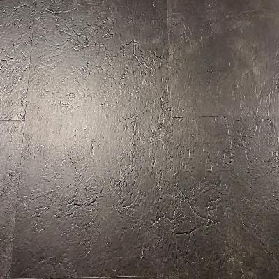 "Vinyl 4.2mm SPC Kings StoneLock- Click Tile 12"" x 24"" Galassia Nero"