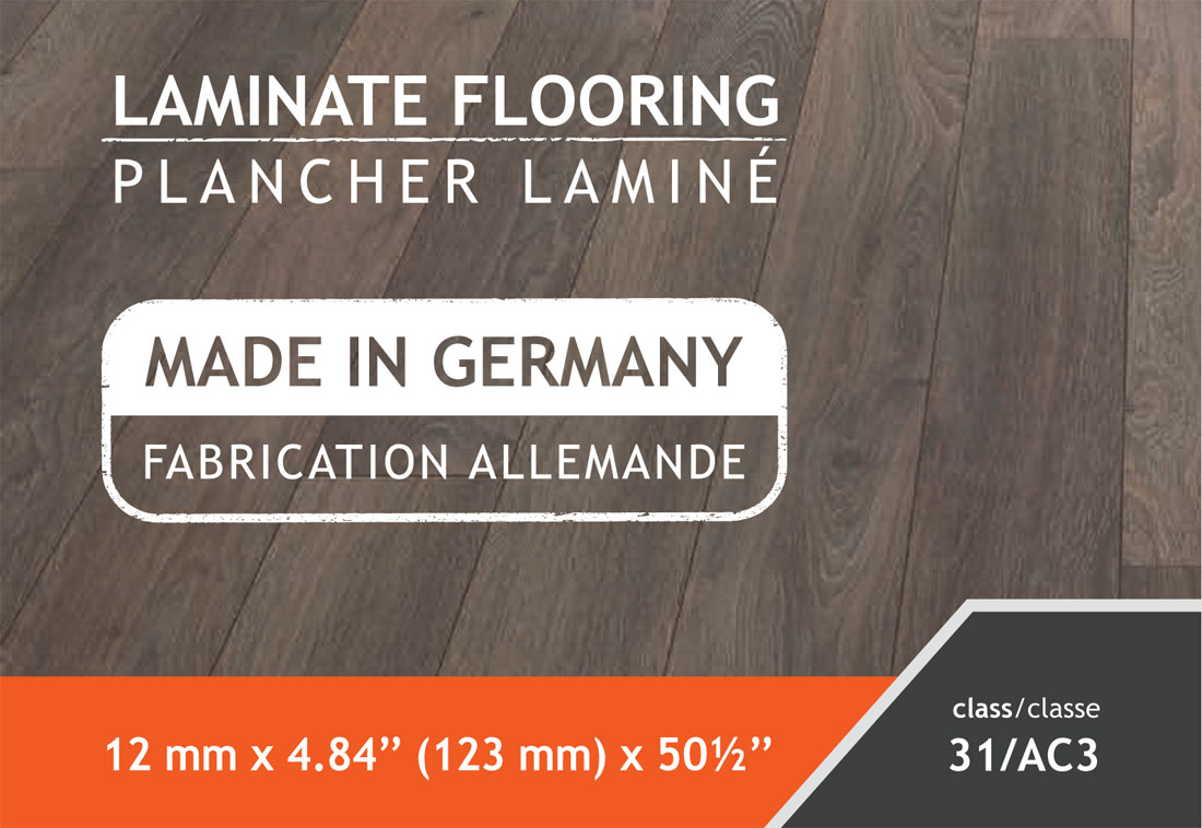 12* 4.84 Laminate Flooring and made in Germany